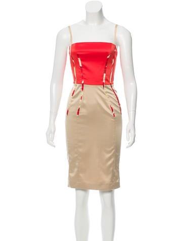 Just Cavalli Satin Sheath Dress