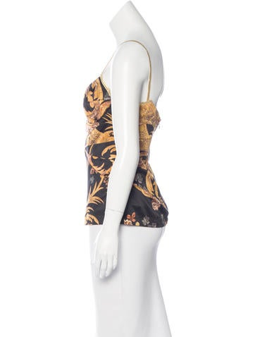 Printed Bustier Top w/ Tags
