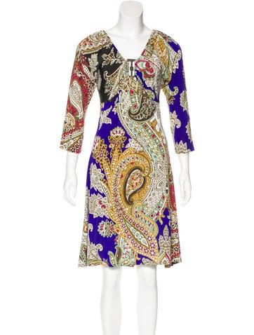 Just Cavalli Printed Long Sleeve Dress None