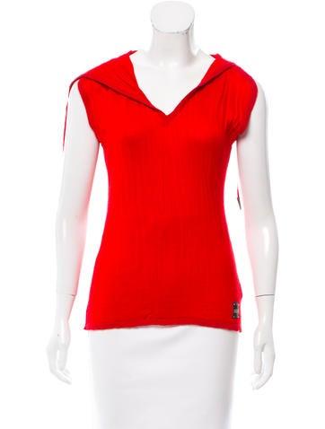 Just Cavalli Wool-Blend Sleeveless Top None
