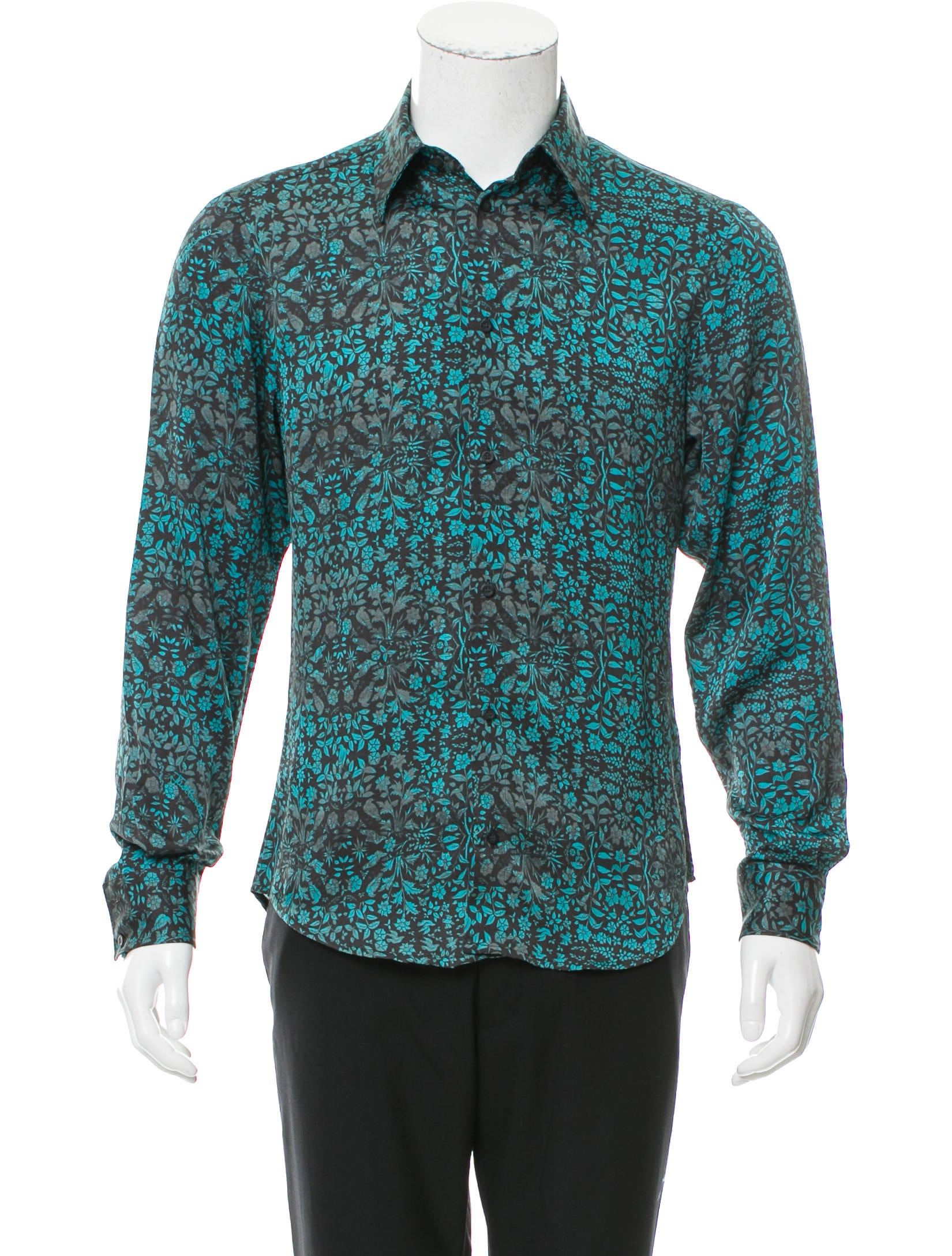 Just cavalli pattern button up shirt clothing wju28783 for Custom pattern button down shirts