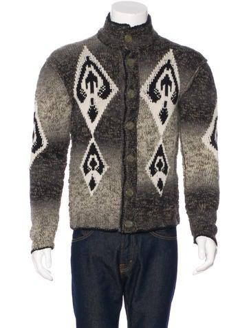 Just Cavalli Wool Seed Knit Cardigan None