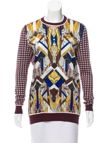 Just Cavalli Printed Long Sleeve Sweater None