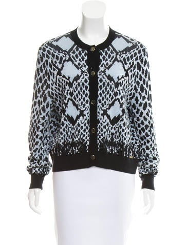 Just Cavalli Patterned Knit Cardigan None