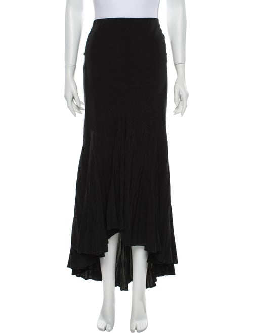 Just Cavalli Pleated Accents Long Skirt Black
