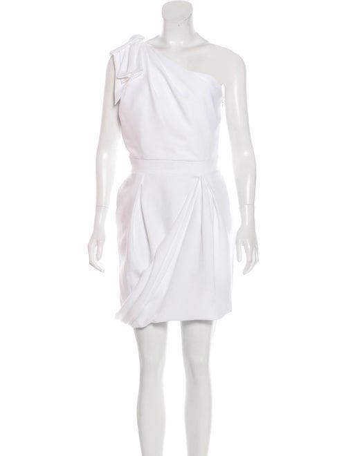 Just Cavalli One-Shoulder Midi Dress WHite