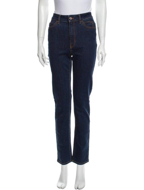 Just Cavalli High-Rise Straight Leg Jeans Blue