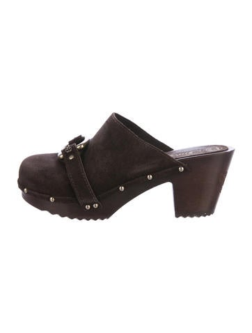 Juicy Couture Suede Round-Toe Mules None
