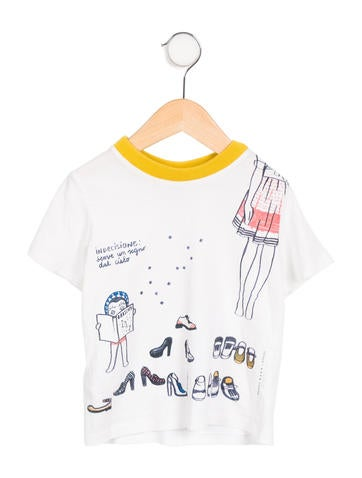 Marni Junior Girls' Shoes Screen Print T-Shirt w/ Tags None