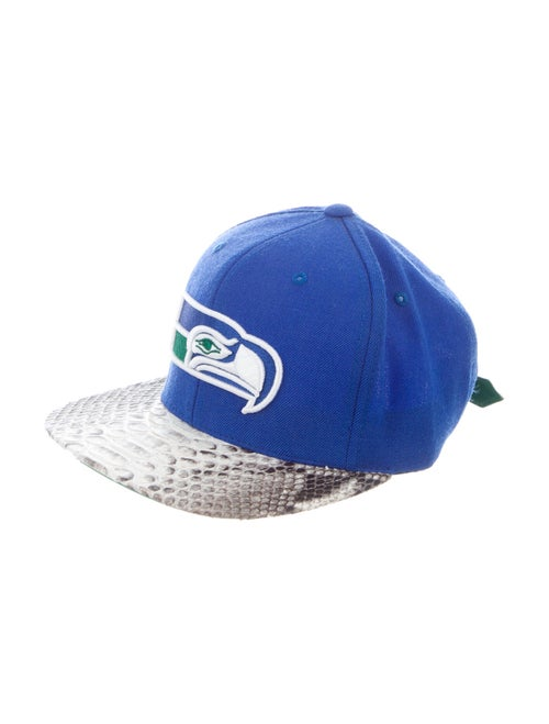 Just Don Seattle Seahawks Python-Trimmed Cap blue