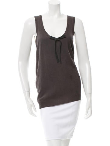 Jil Sander Navy Knit Sleeveless Top w/ Tags None