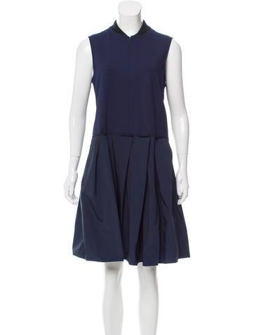 Jil Sander Navy Structured A-Line Dress None