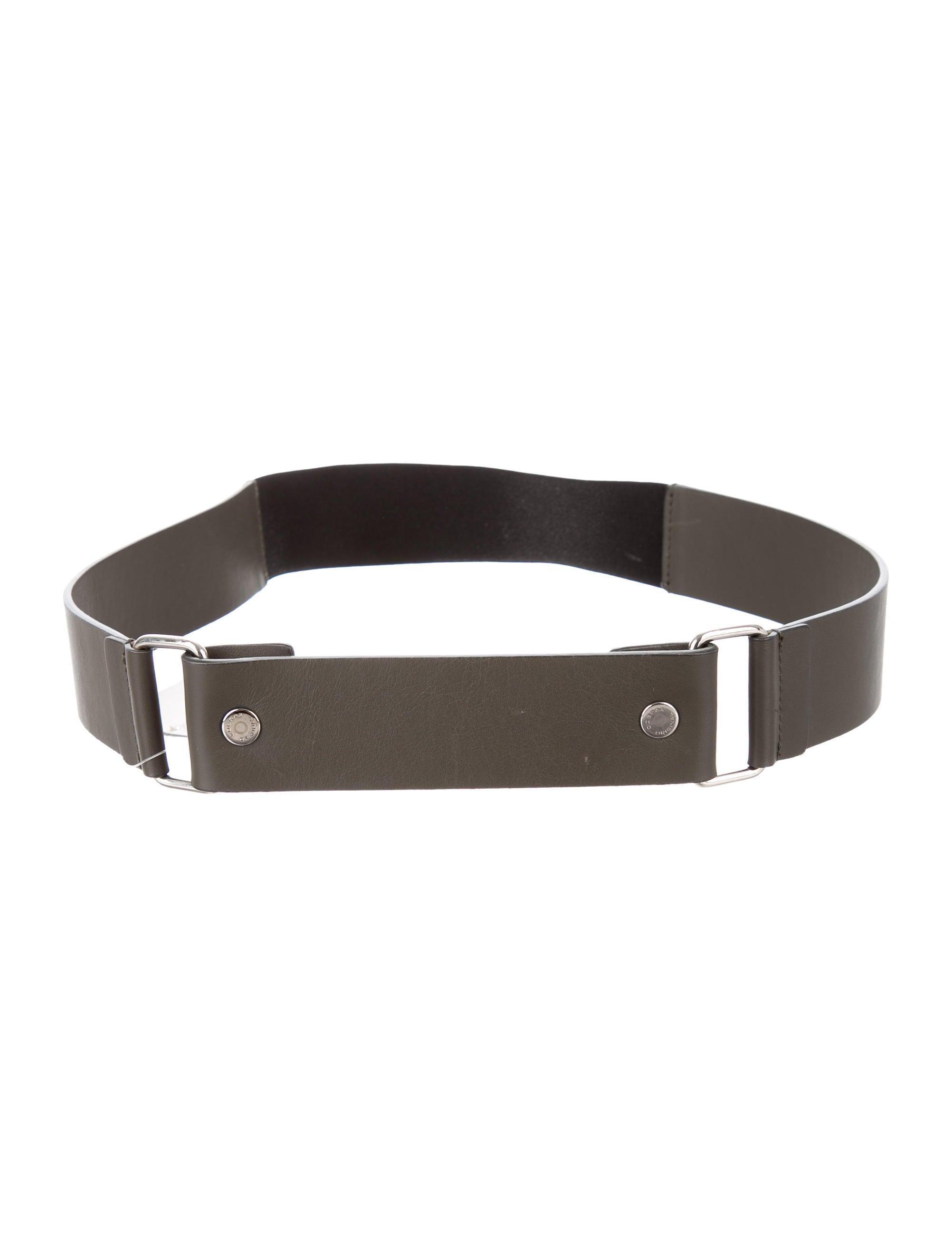 jil sander navy grey leather belt w tags accessories