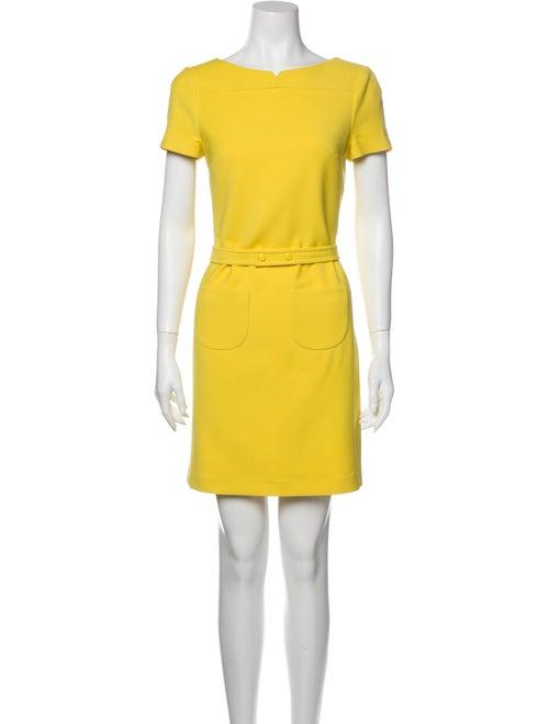 Jil Sander Navy Virgin Wool Mini Dress Navy