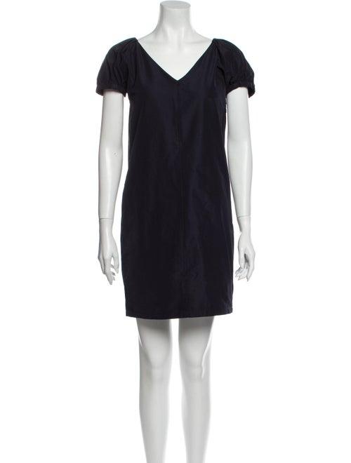 Jil Sander Navy V-Neck Mini Dress Navy