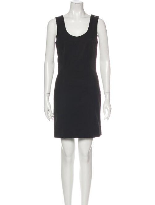 Jil Sander Navy Scoop Neck Mini Dress Navy