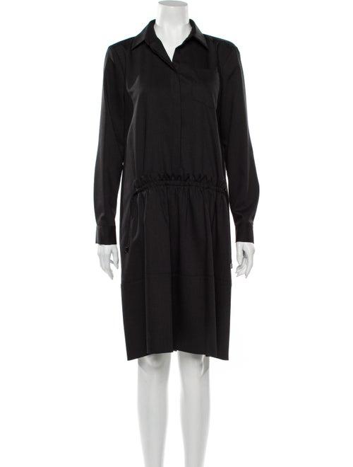 Jil Sander Navy Wool Knee-Length Dress w/ Tags Nav