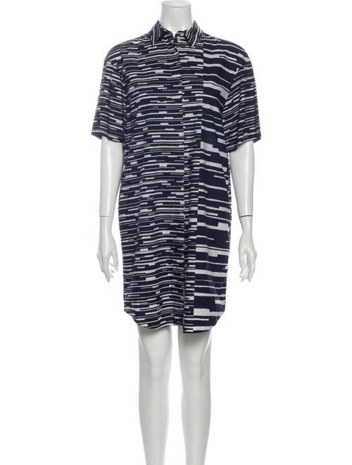 Jil Sander Navy Striped Mini Dress Navy