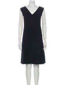 Jil Sander Navy Virgin Wool Knee-Length Dress w/ Tags