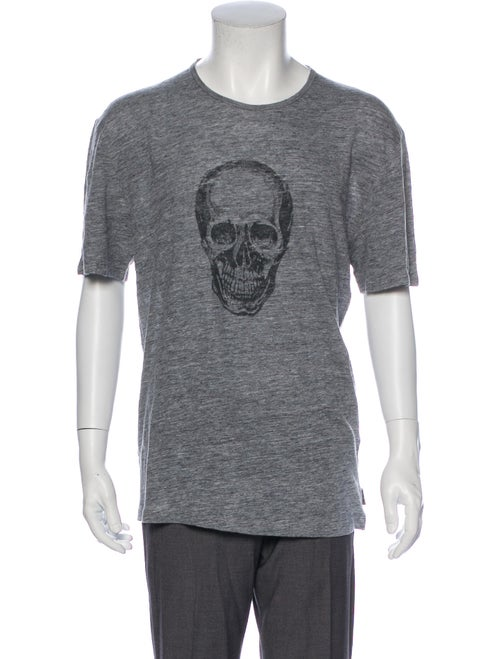 John Varvatos Star USA Skull Linen T-Shirt w/ Tags