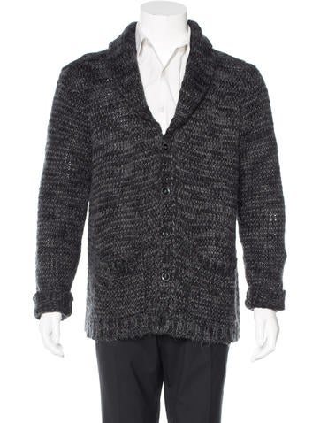 John Varvatos Star U.S.A. Rib Knit Shawl Cardigan None