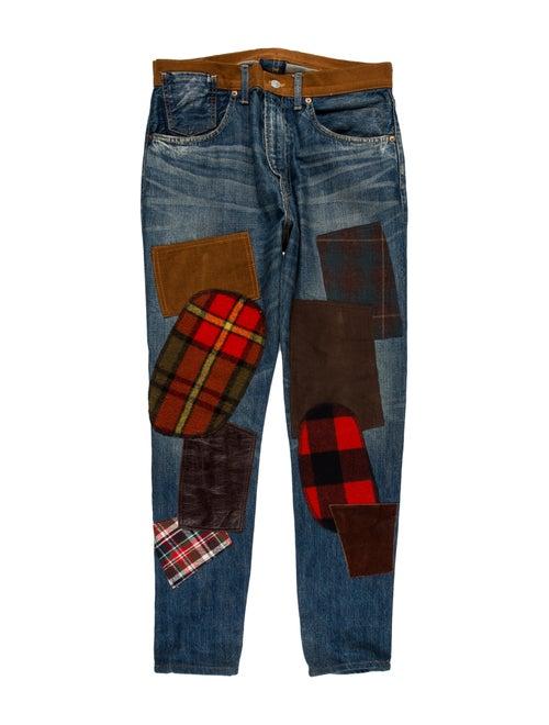 Junya Watanabe x Levi's Patchwork Skinny Jeans blu