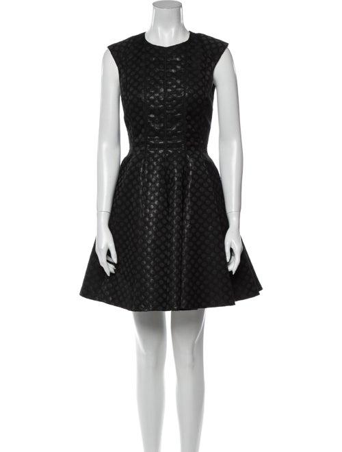 Jill Jill Stuart Printed Mini Dress Black
