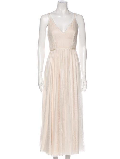 Jill Jill Stuart V-Neck Long Dress White