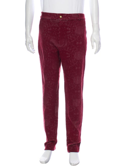 Joe Yellino Printed Pants Red