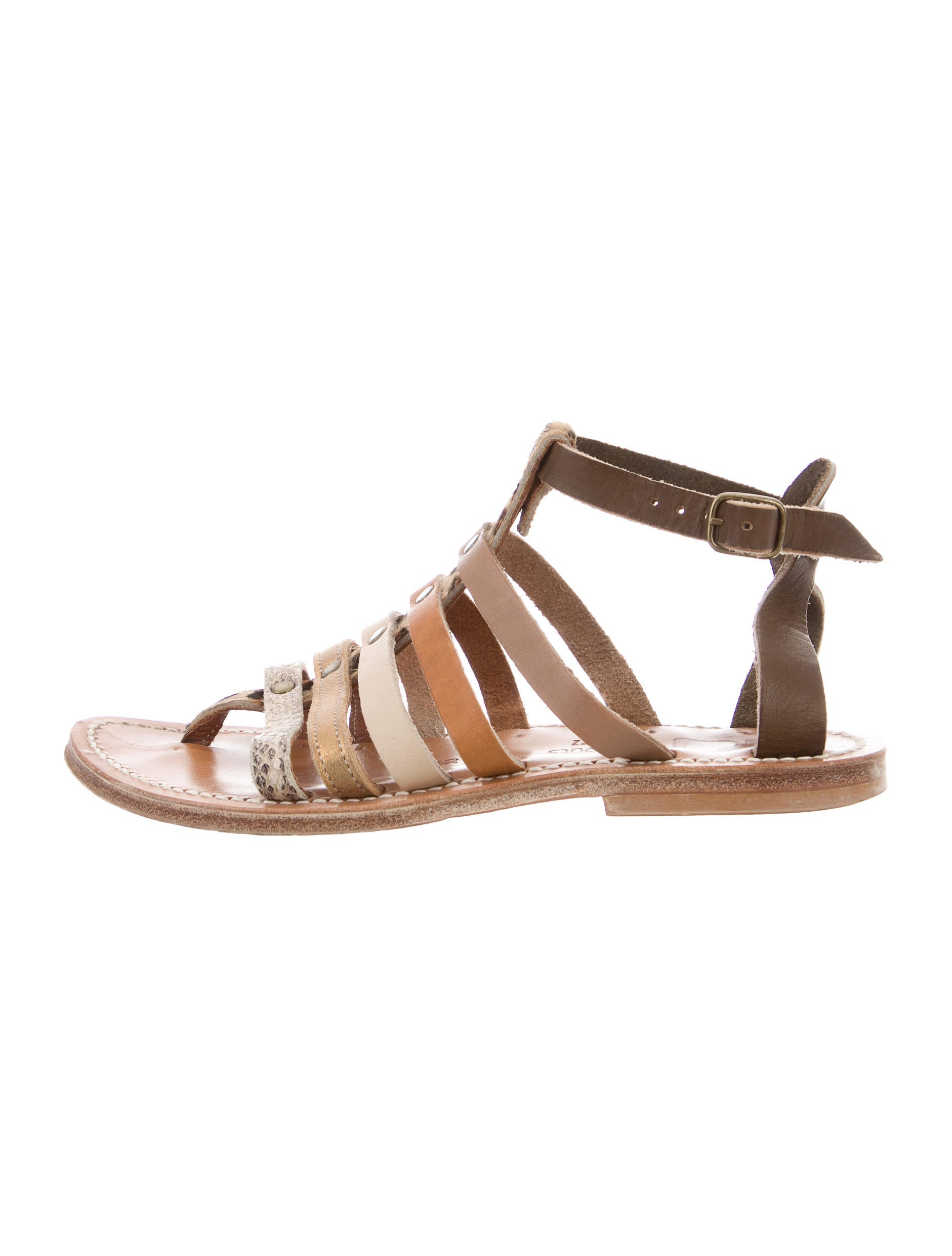 how much online clearance reliable K Jacques St. Tropez Ponyhair Ankle-Cuff Sandals release dates for sale discount the cheapest discounts cheap price fq56a7