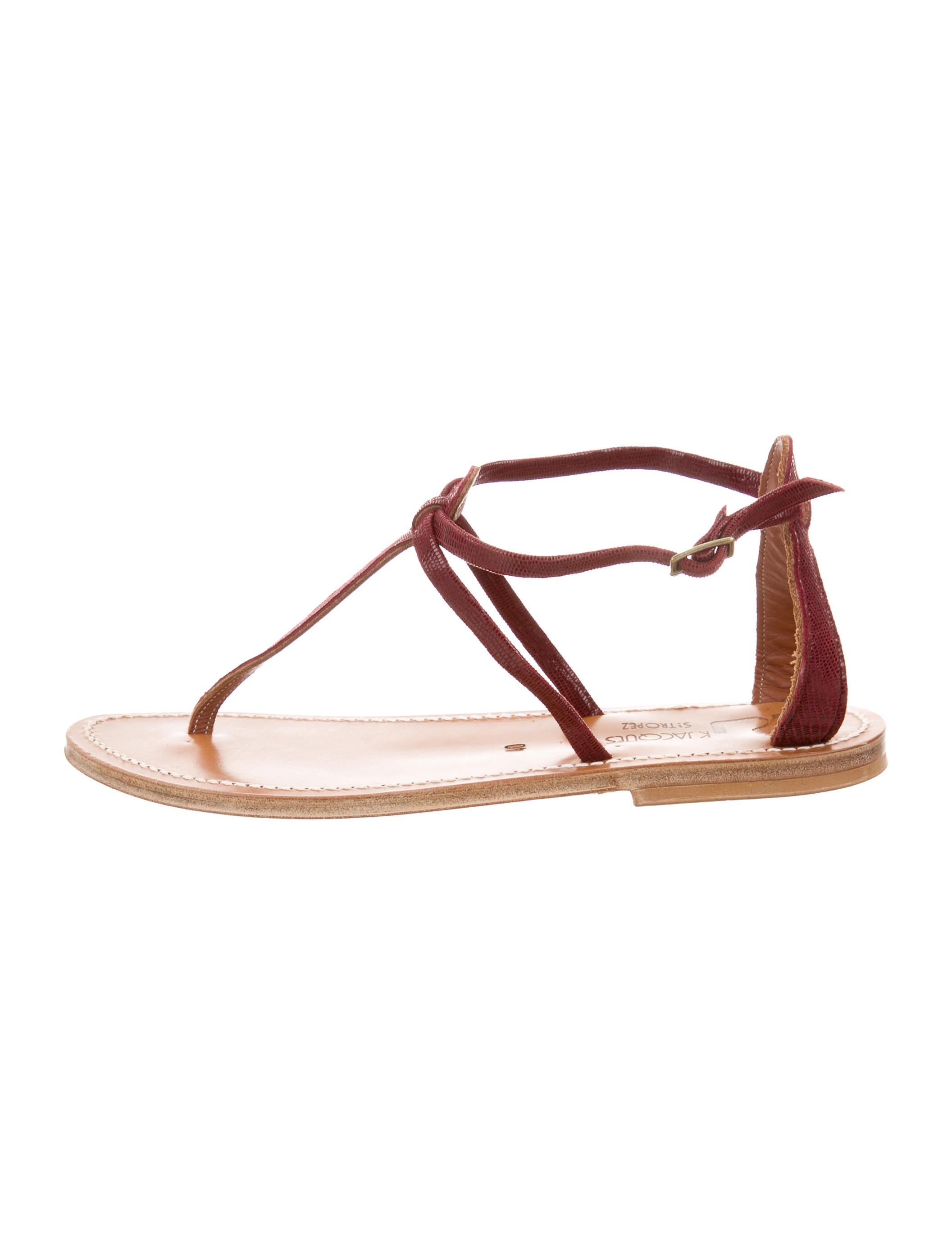 7727919e570c K Jacques St. Tropez Embossed Thong Sandals - Shoes - WK021166