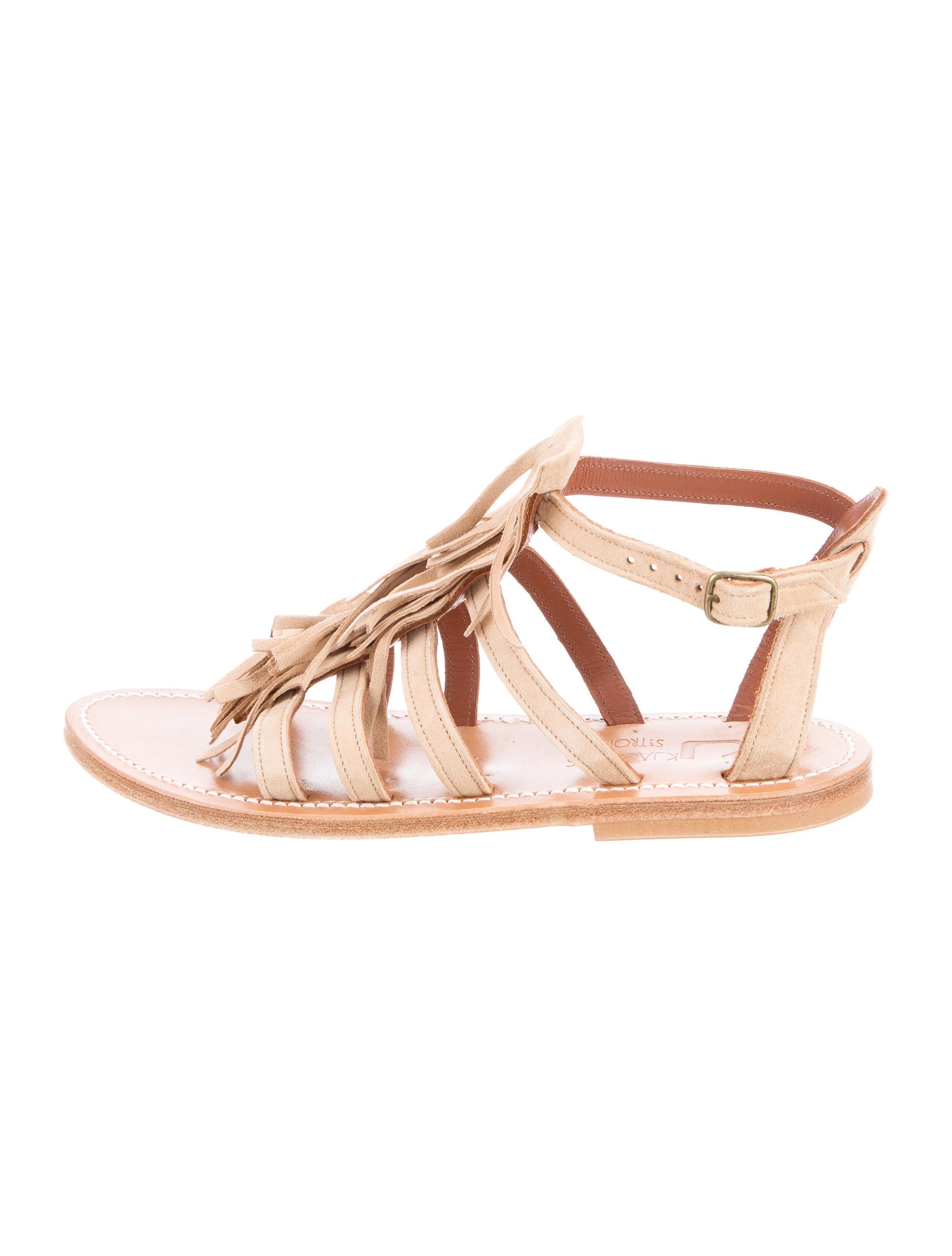 discount classic perfect online K Jacques St. Tropez Fregate Fringe Sandals w/ Tags 5JlaSYTz