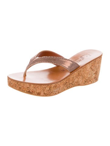 cheap sale authentic K Jacques St. Tropez Thong Wedge Sandals w/ Tags cheap sale clearance for cheap free shipping low cost shopping online 0N2Dqnrrr