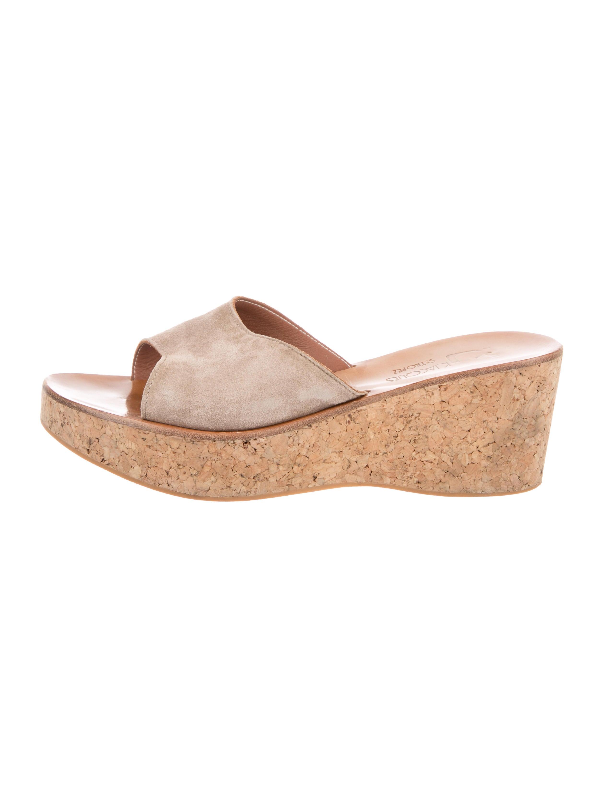 K Jacques St. Tropez Slide Wedge Sandals cheap professional tk2xQUg