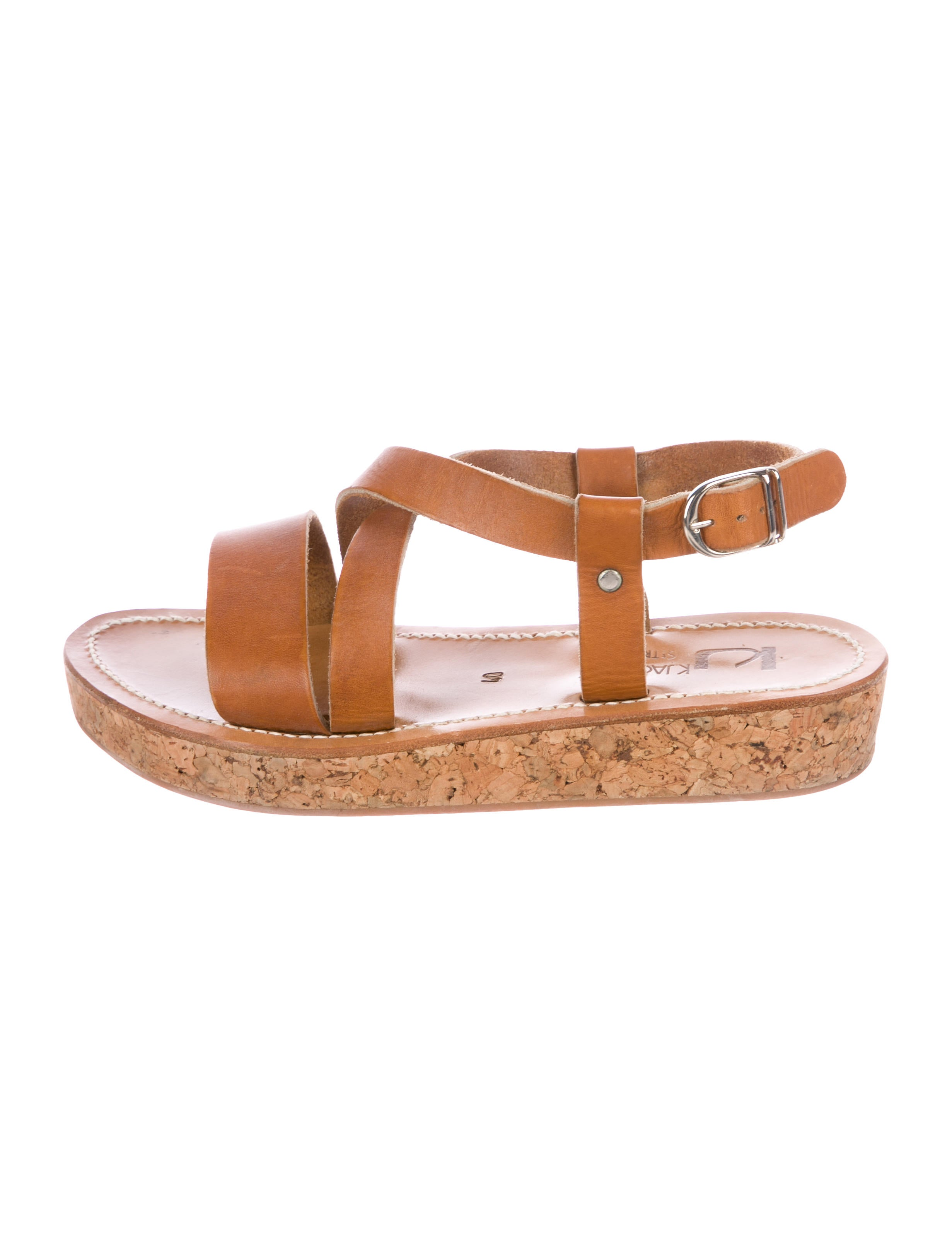 K Jacques St. Tropez Leather Crossover Sandals for nice sale online buy cheap 100% original many kinds of sale online genuine cheap online 100% guaranteed cheap online KRY32D