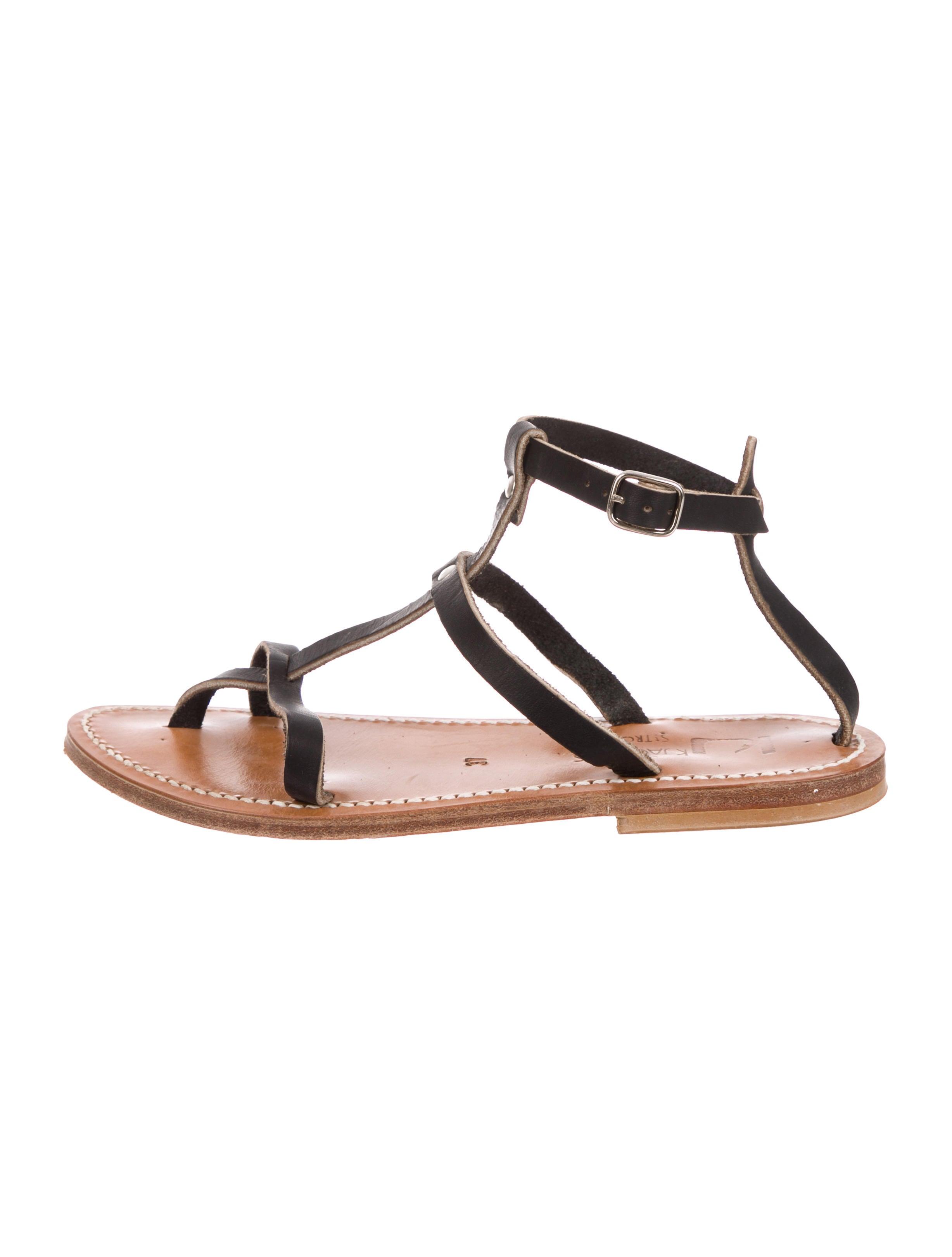 79d0c1a9db17 K Jacques St. Tropez Leather T-Strap Sandals - Shoes - WK021517 ...