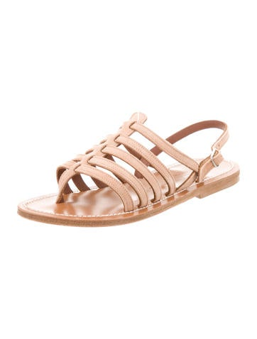 cheap high quality K Jacques St. Tropez Suede Cage Sandals factory outlet fYLVFfo