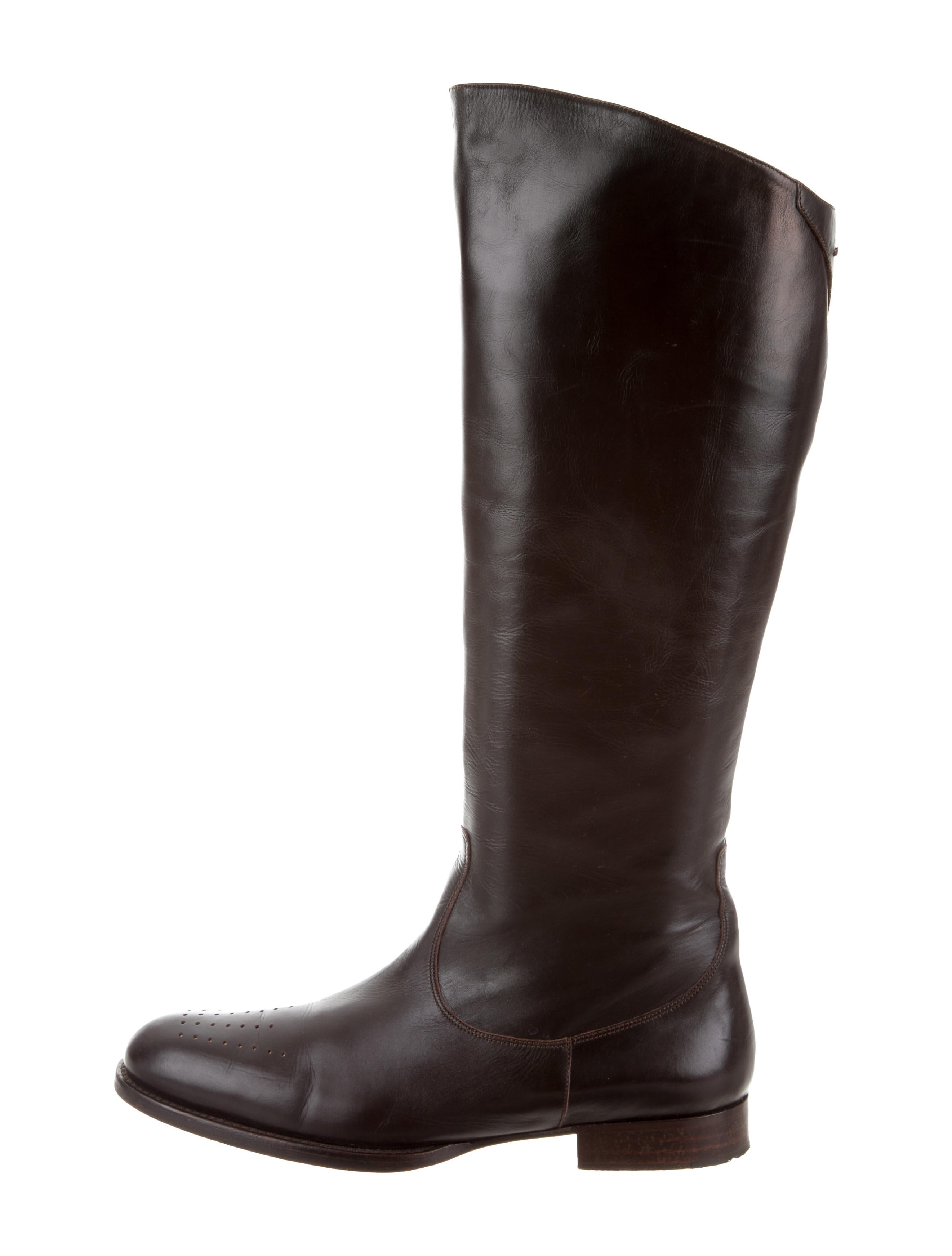 Stephane Kélian Leather Knee-High Boots clearance free shipping outlet factory outlet bUd5A