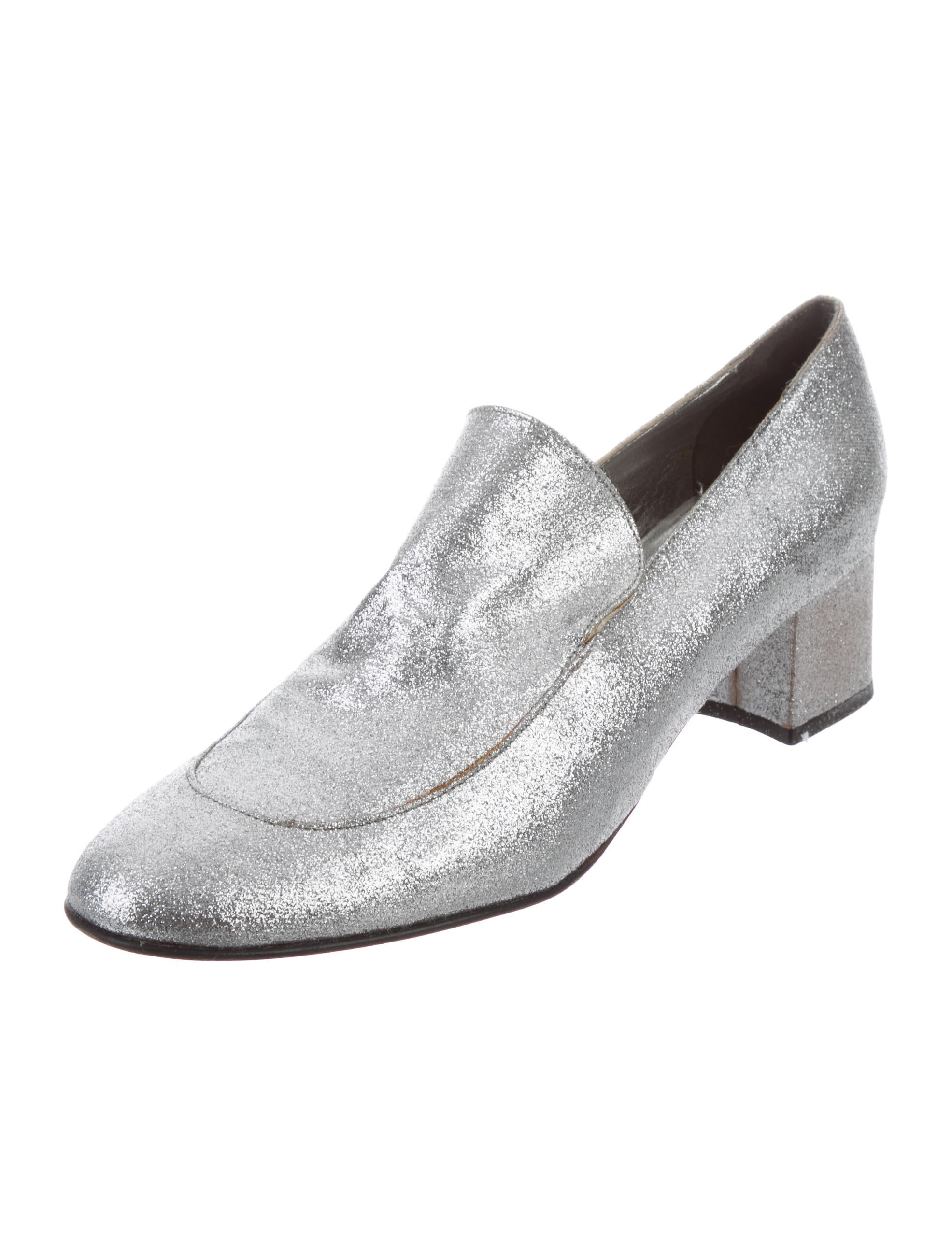 Stephane Kélian Round-Toe Glitter Pumps looking for cheap price wcUtpgJ