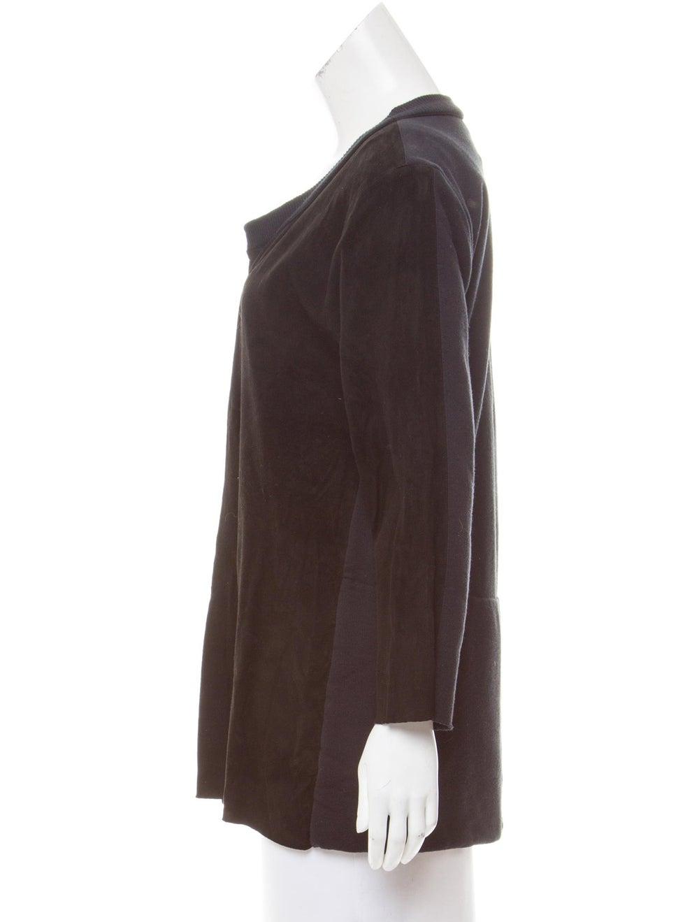 Kristensen Du Nord Suede Button-Up Cardigan Black - image 2