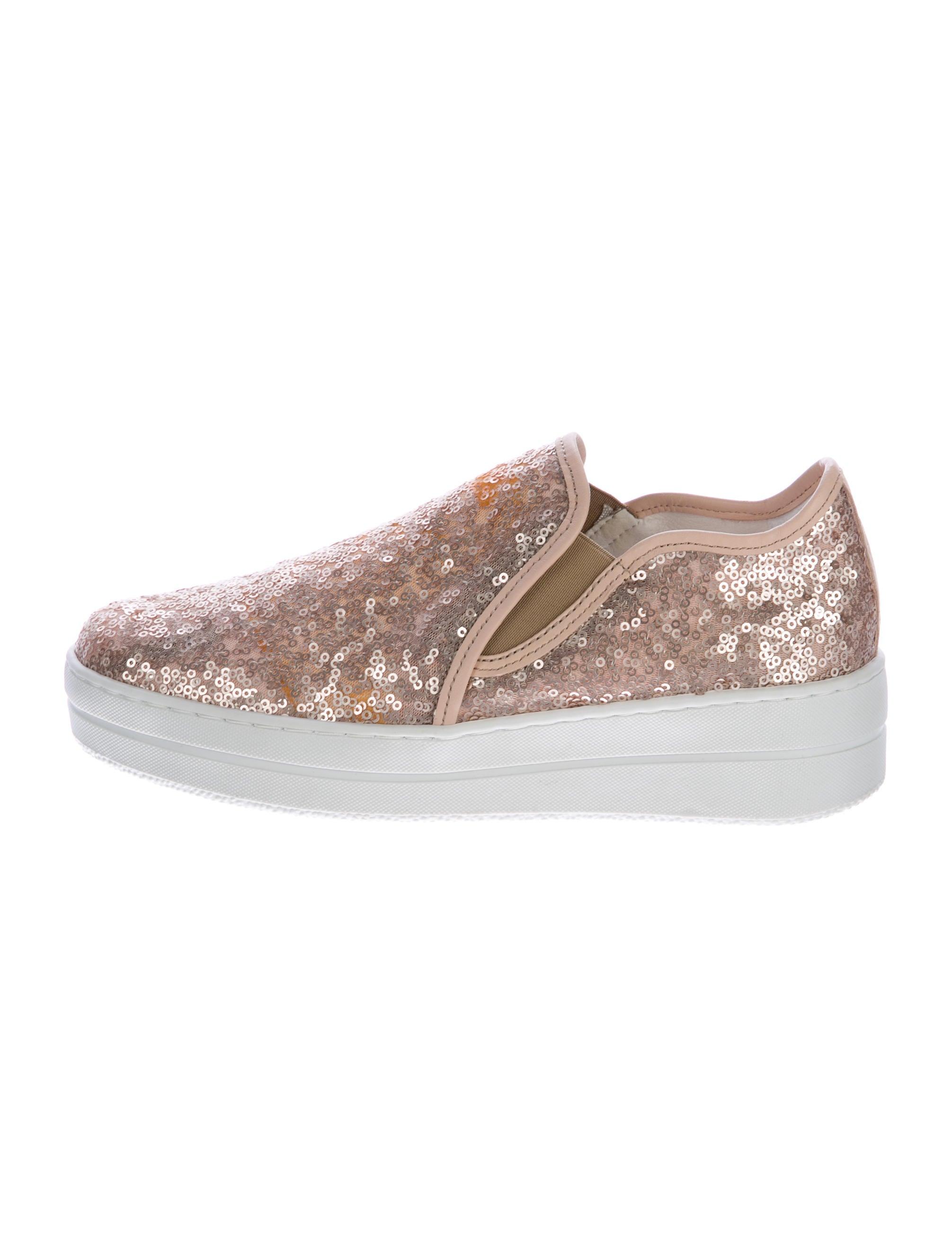 kurt geiger sequin platform slip on sneakers shoes