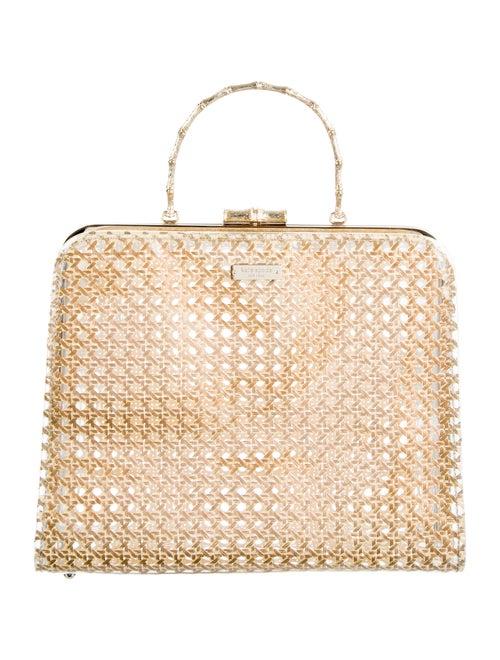 Kate Spade New York Raffia & PVC Top Handle Bag Cl