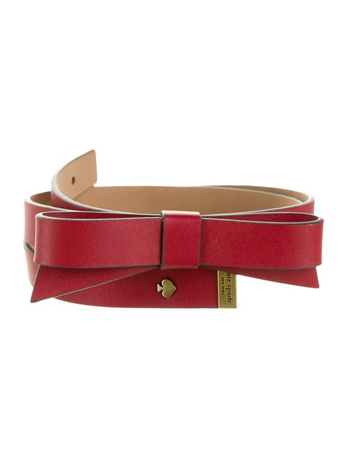 Kate Spade New York Leather Bow Belt gold