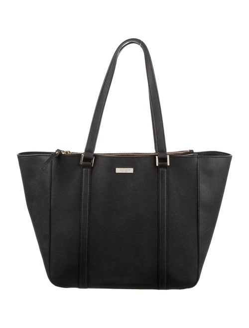 Kate Spade New York Leather Tote Bag Black