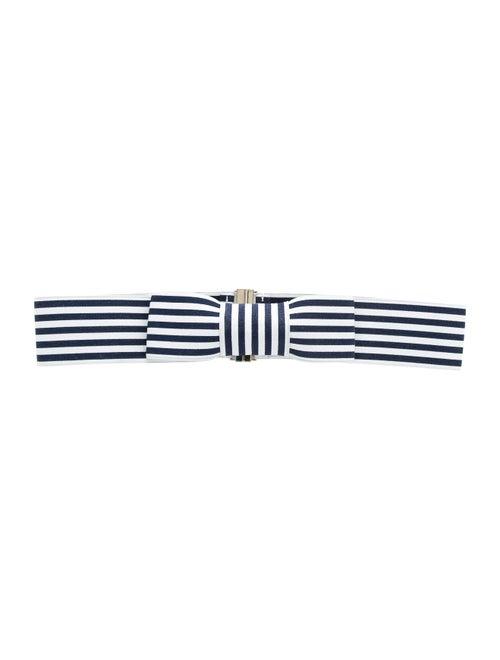 Kate Spade New York Woven Waist Belt Navy