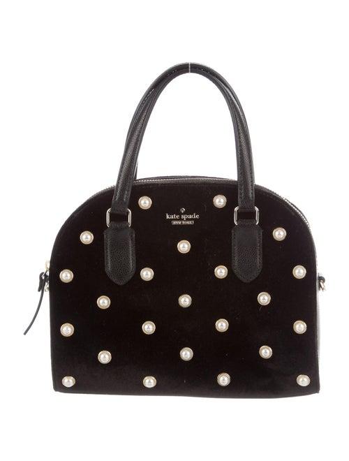 Kate Spade New York Velvet Crossbody Bag Black