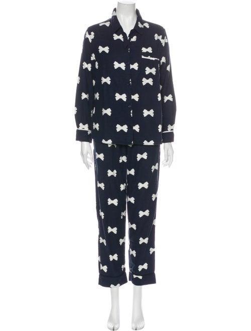 Kate Spade New York Printed Pajamas Blue
