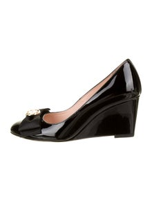 Kate Spade New York Patent Leather Bow Accents Pumps