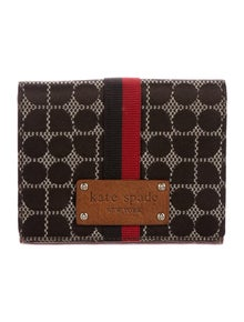 Kate Spade New York Canvas Printed Compact Wallet