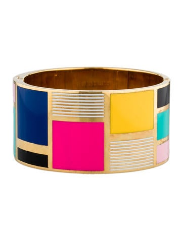 Enamel Color Block Bangle